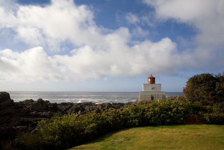 rescue west: light house over cloudy sky in Tofino canada