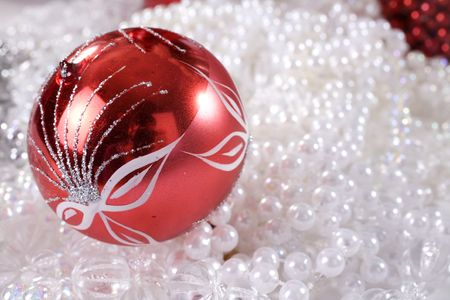 christmas decoration setup with diverse objects 스톡 콘텐츠