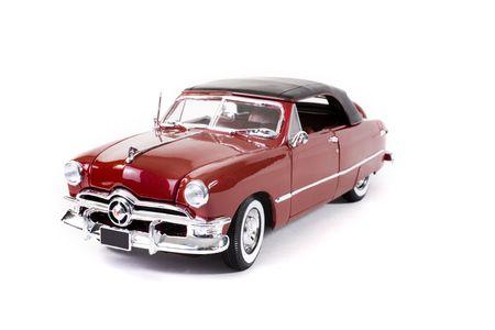 Nahaufnahme von einzutreibenden Auto über weißem Hintergrund  Standard-Bild - 1998720