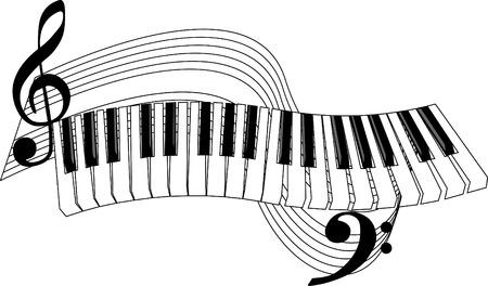 피아노 키와 구멍이.