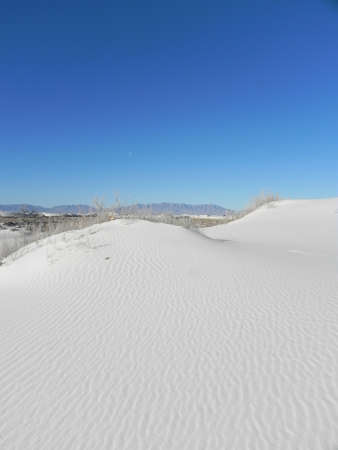 Nationaal Monument White Sands, in New Mexico