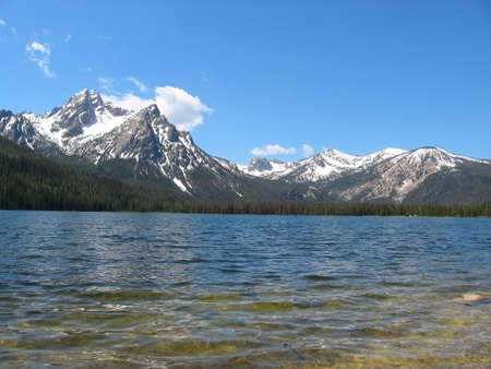 sawtooth national forest: Stanley Lake in Sawtooth National Recreation Area in Idaho