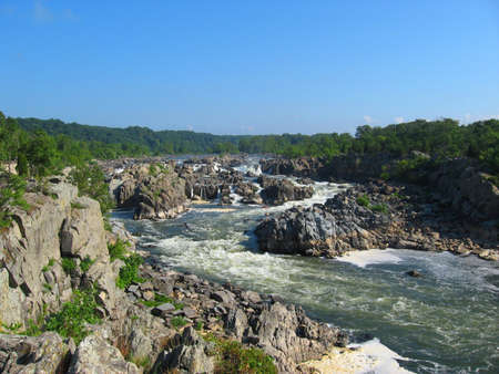 Great Falls of the Potomac River on the Maryland and Virginia border Stock Photo