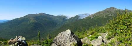 Mount Washington en witte bergen in New Hampshire Stockfoto