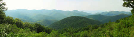 Appalachian Mountains in Shenandoah National Park in Virginia