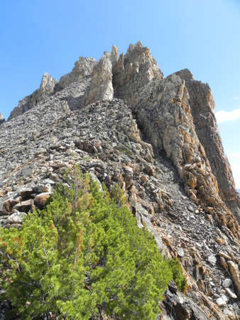 sawtooth national forest: Thompson Peak from Southwest Route