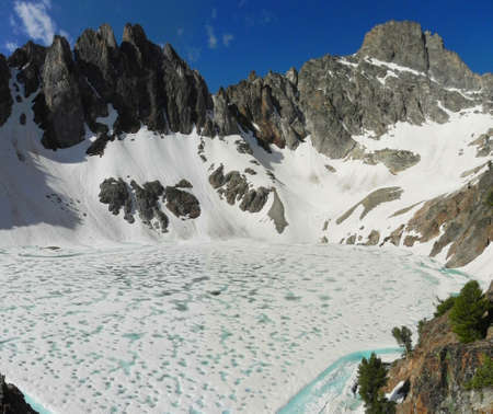 sawtooth national forest: Thompson Peak in Sawtooth Mountains in Idaho