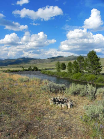 Salmon River and Sawtooth Valley in Idaho photo