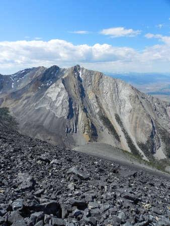 Lost River Mountains from Borah Peak in Idaho photo