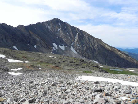sawtooth national forest: Cobb Peak in Pioneer Mountains in Idaho
