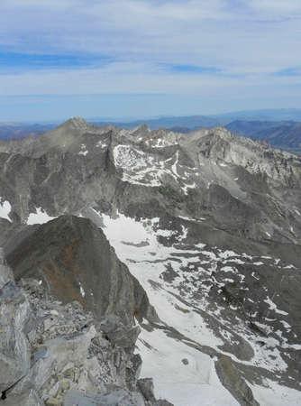 pioneer: Pioneer Mountains from Hyndman Peak in Idaho Stock Photo