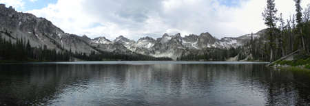 sawtooth national forest: Alice Lake in Sawtooth Wilderness in Idaho Stock Photo