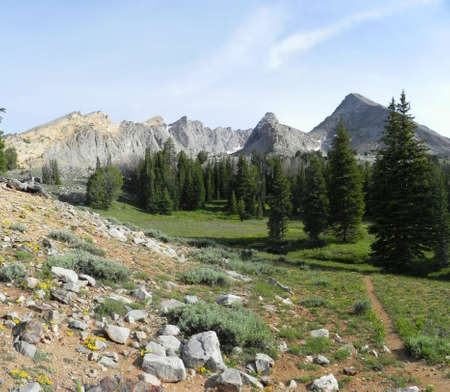 Pioneer Mountains in Idaho Stock Photo