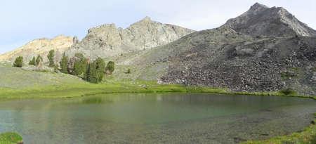 sawtooth national forest: Lake below Hyndman Peak in Pioneer Mountains in Idaho