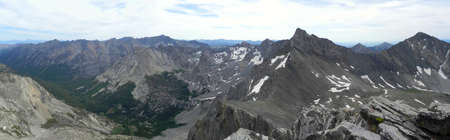 sawtooth national forest: Pioneer Mountains from Hyndman Peak in Idaho Stock Photo