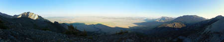 Sunrise over Lost River Valley from Borah Peak trail in Idaho photo