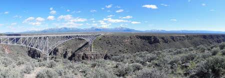 grande: Rio Grande Gorge Bridge Stock Photo