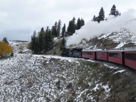 Cumbres & Toltec Railroad near Osier, Colorado photo