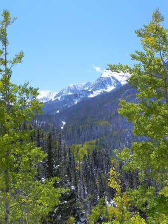 Sangre de Cristo Mountains op Toas Ski Valley in New Mexico Stockfoto