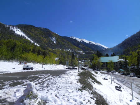 Sangre de Cristo Mountains at Toas Ski Valley in New Mexico photo