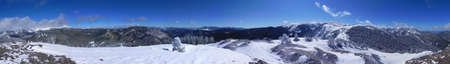 Panorama from Bull of the Woods Mountain in New Mexico photo
