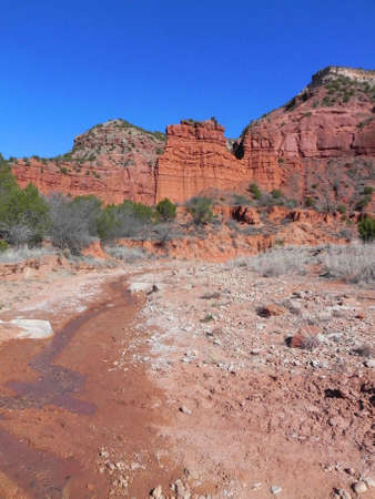 Stream in Caprock Canyons State Park Texas Stock Photo