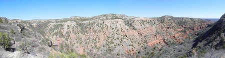 Uitzicht vanaf de bovenste Haynes Ridge in Caprock Canyons State Park Texas