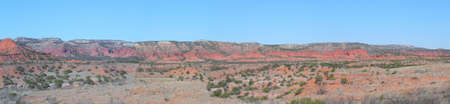 Panorama in Caprock Canyons State Park Texas photo