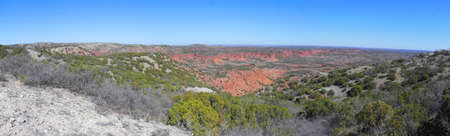 View from Haynes Ridge in Caprock Canyons State Park Texas photo