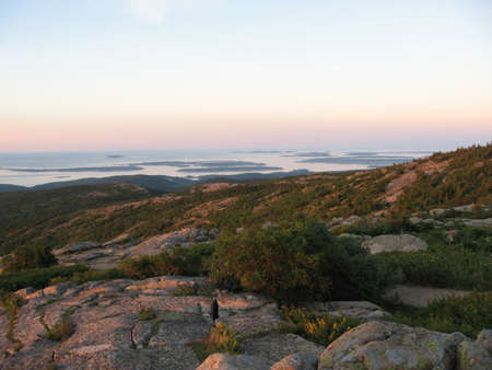 Sunrise from Cadillac Mountain in Acadia National Park photo