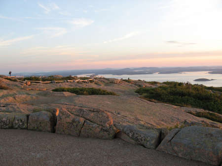 Sunrise in Acadia from Cadillac Mountain photo