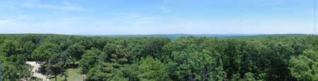 View from Taum Sauk Mountain Lookout Tower in Missouri