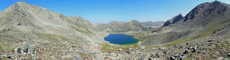 lost lake: Lost Man Lake and Sawatch Range in Colorado Stock Photo