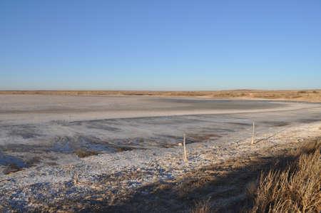Lower Pauls Lake in Muleshoe National Wildlife Refuge, Texas Stock Photo