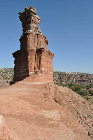 duro: Lighthouse in Palo Duro Canyon State Park, Texas Stock Photo