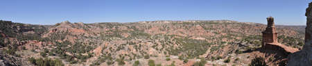 duro: Panorama with the Lighthouse in Palo Duro Canyon State Park, Texas
