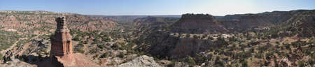 duro: The Lighthouse from above in Palo Duro Canyon State Park, Texas