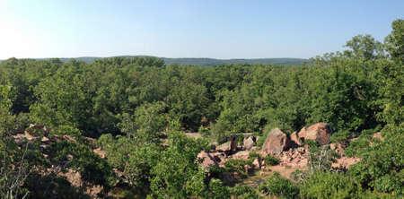 Uitzicht vanaf Elephant Rocks kijken, Missouri