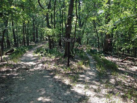 Routes in Rockwoods Range Conservation Area Missouri