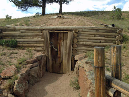 Building in  Florissant Fossil Beds National Monument Stockfoto