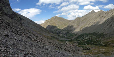 cristo: Willow Lake Valley in the Sangre de Cristo Mountains Stock Photo