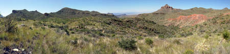 View from Dodson Trail in Big Bend National Park, Texas Stock Photo