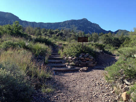 Emory Peak and trail in Big Bend National Park, Texas