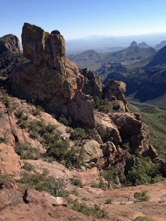 View from Lost Mine Trail in Big Bend National Park, Texas Stock Photo