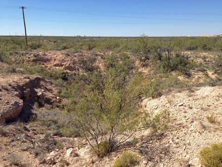 Small crater at Odessa Meteor Crater, Texas