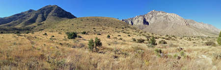 Hunter Peak from El Capitan Trail in Guadalupe Mountains National Park, Texas photo
