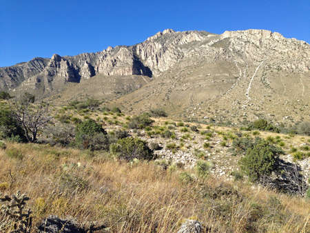 Hunter Peak in Guadalupe Mountains National Park, Texas photo