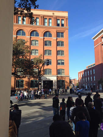 Book Depository from Dealey Plaza in Dallas, Texas