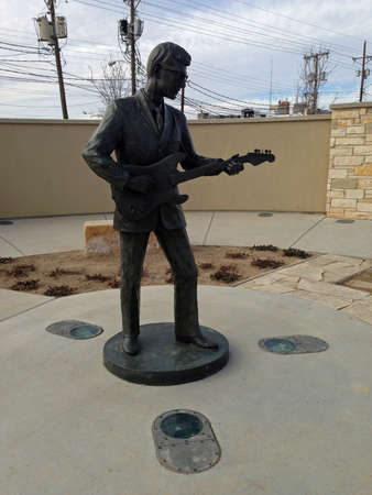 Buddy Holly Statue in Lubbock, Texas