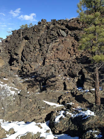 Lava in Sunset Crater National Monument in Arizona